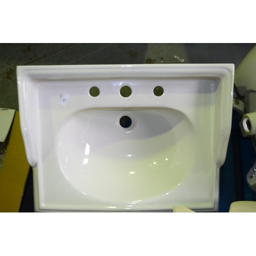 86 - traditional vanity sink 600mm rrp £200...