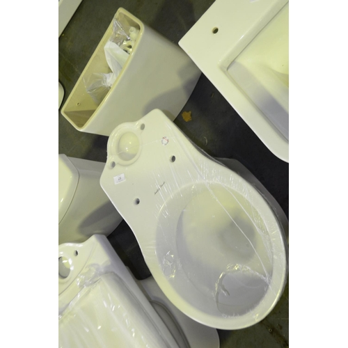 97 - toilet with cistern but no cistern lid rrp £130...