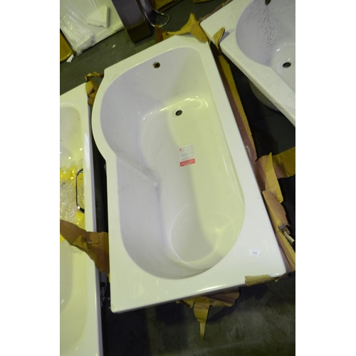 108 - p shaped bath rrp £230...