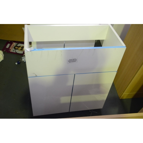 121 - 600mm wall mount sink vanity unit rrp £100...