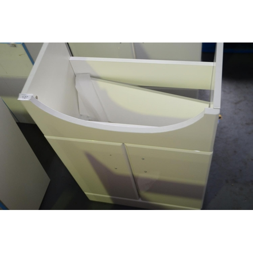 127 - 500mm white high gloss sink vanity unit with cupboard storage rrp £120...