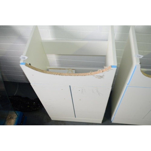 129 - 500mm sink vanity unit with cupboard storage rrp £90...
