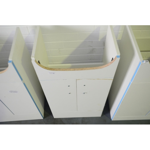 131 - 500mm white sink vanity unit with cupboard storage rrp £90...