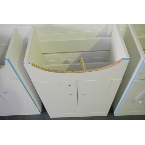 132 - 600mm white sink vanity unit with cupboard storage rrp £100...