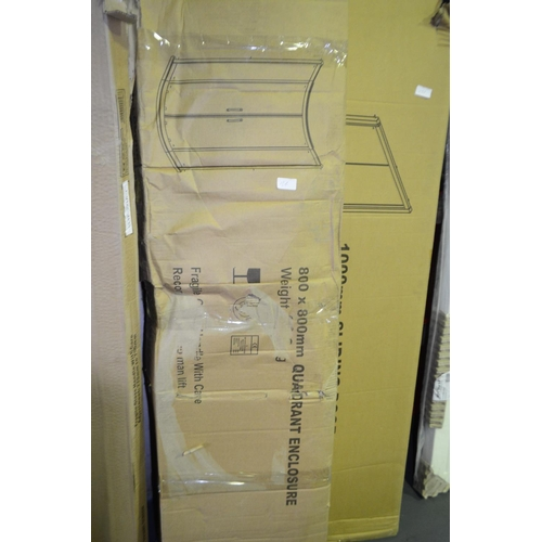 136 - quadrant shower enclosure 765mm x 765mm to 785mmx785mm rrp £250...