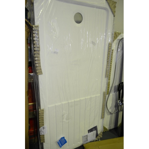 138 - 1700mm x 800mm shower tray rrp £200...