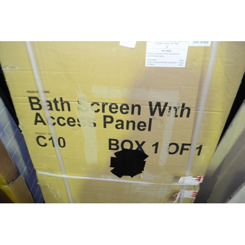 143 - bath shower screen with access panel rrp £120...