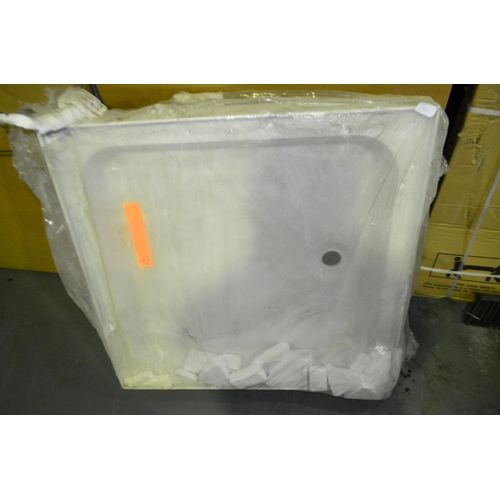 144 - 800mm x 800 mm shower tray with raised legs rrp £150...