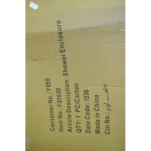 145 - 800 x 1600 x 1900 shower enclosure rrp £250...