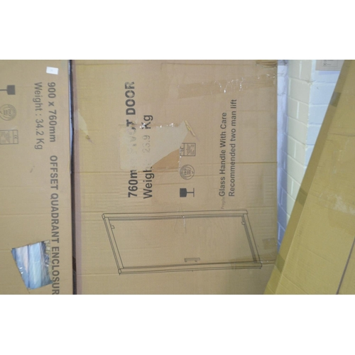 151 - 760mm pivot shower door rrp £120...