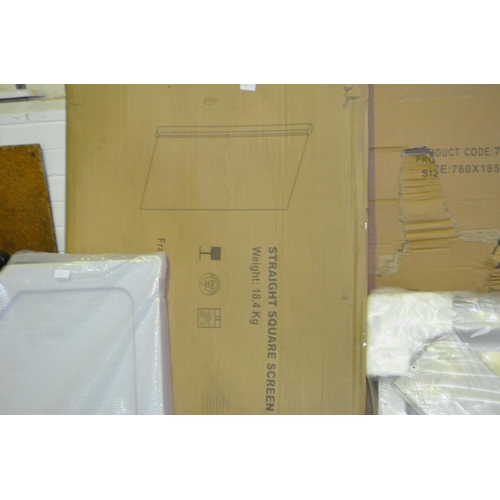 154 - bath shower screen rrp £110...