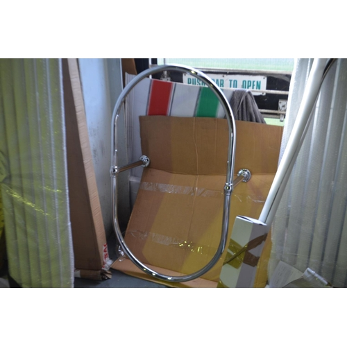 162 - 1100x 650mm free standing bath shower curtain rail rrp £130...