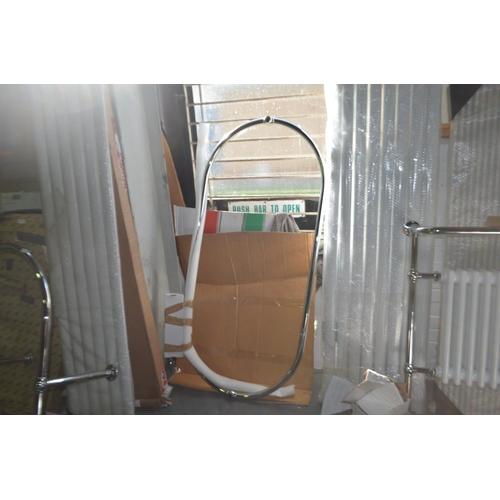 163 - 1500mm x 700mm free standing bath shower curtain rail rrp £160...