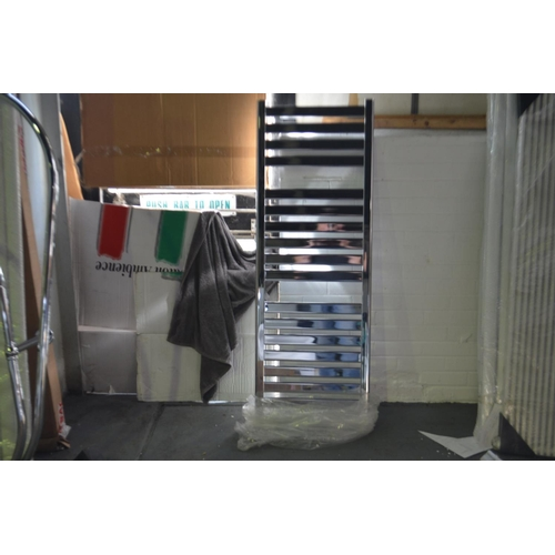 166 - 1400mm x 500mm chrome bar rail towel radiator rrp £290...