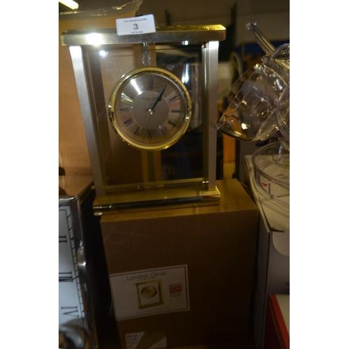 3 - LONDON CLOCK COMPANY MANTEL CLOCK RRP £65...