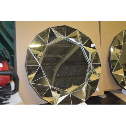 233 - DESIGNER WALL MIRROR...