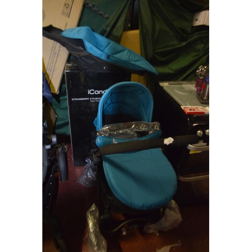 306 - ICANDY STRAWBERRY 2 PUSHCHAIR AND CARRYCOT RRP £550...