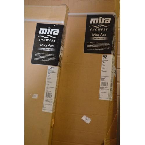 337 - MIRA ACE SHOWER ENCLOSURE RRP £330 1000X800...