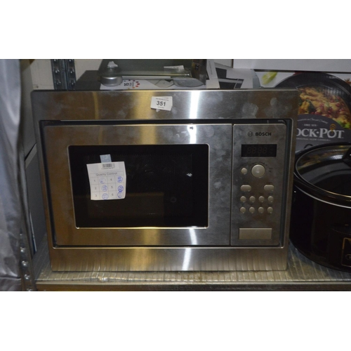 351 - BOSCH BUILT IN MICROWAVE RRP £320...