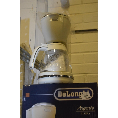 356 - DELONGHI AIGENTO FLORA FILTER COFFEE MACHINE RRP £65...