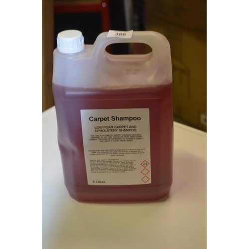 386 - 5L CAR CARPET AND UPHOLSTERY CLEANER...