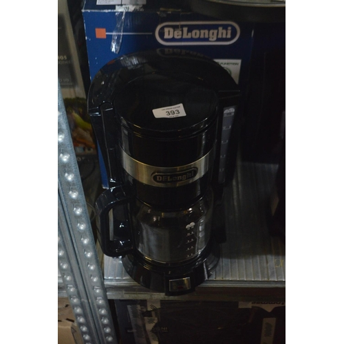 393 - DELONGHI FILTER COFFEE MACHINE RRP £45...