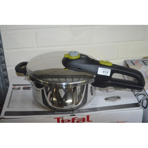 414 - TEFAL SECURE NEO PRESSURE COOKER RP £55...