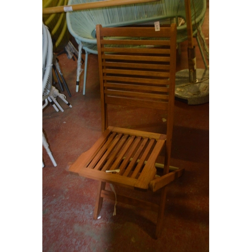 429 - DESIGNER FOLDING GARDEN CHAIR RRP £50...