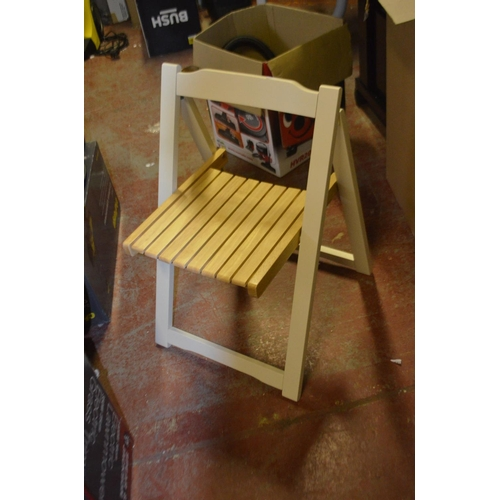 461 - DESGINER FOLDING DINING CHAIR...