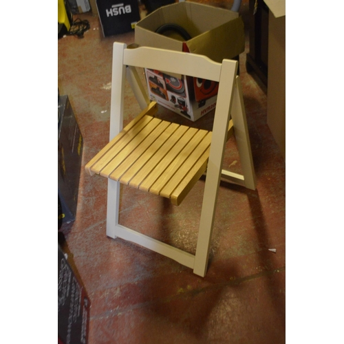 463 - DESGINER FOLDING DINING CHAIR...