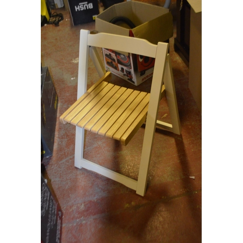 464 - DESGINER FOLDING DINING CHAIR...