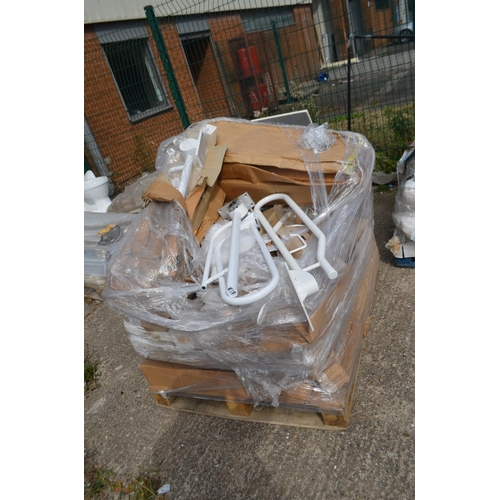 466 - PALLET OF DISABLED TOILET SUPPORT RAILS...