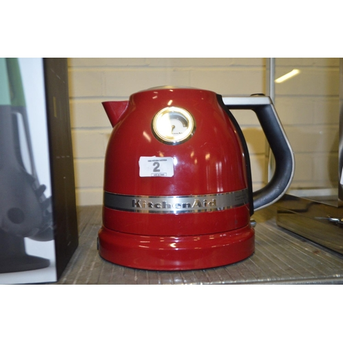 2 - KITCHEN AID KETTLE RRP £130...