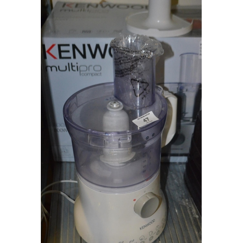 47 - KENWOOD MULTIPRO COMPACT FOOD PROCESSOR RRP £75...