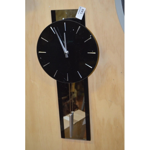 144 - London Clock Company Pendulum Wall Clock, Black RRP £65...