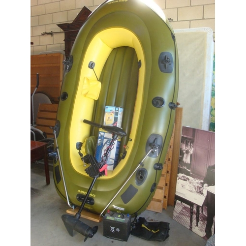 2 - Inflatable Boat with Trolling Motor, Pump, Battery, Charger...
