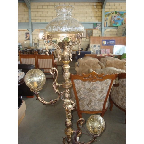 17 - Vintage (1950's) Highly Ornate Freestanding Lamp-Rewiring Needed...