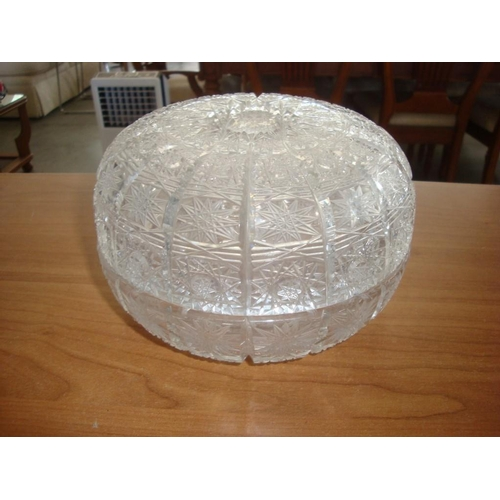 44 - Cut Glass Bowl with Lid...