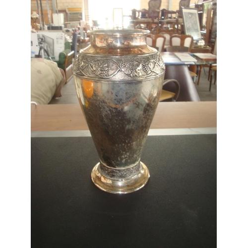 28 - Vintage Silver Plated Ornate Vase...