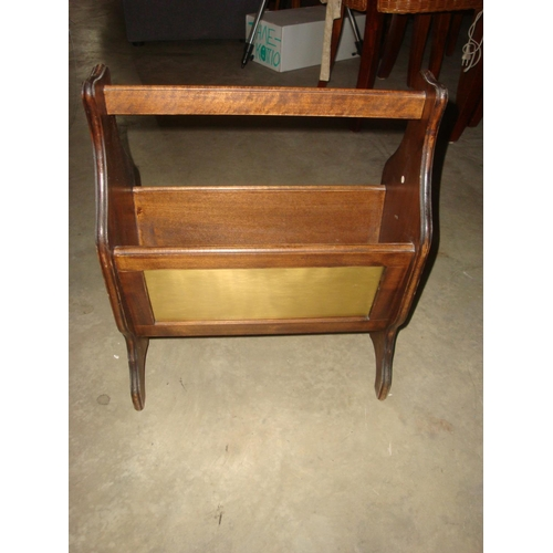 7 - Vintage Wooden Magazine Rack...