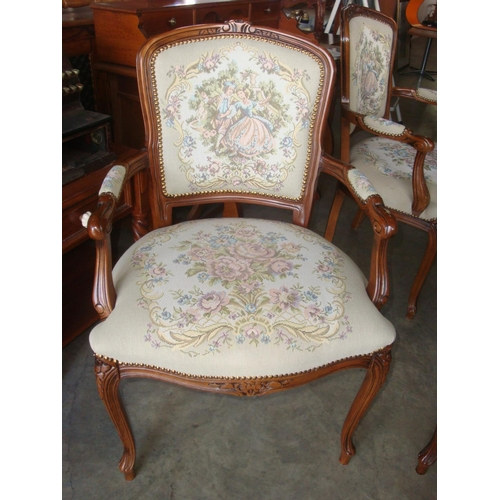 6 - French Louis Style Carved 2-Seater Sofa and Two Armchair Set...