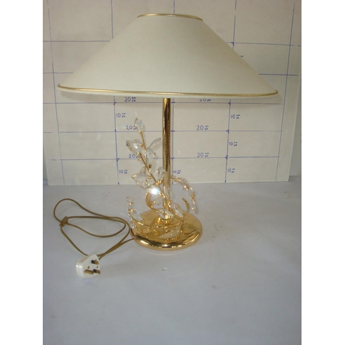 15 - Highly Crystal Ornated Gold Plated Table Lamp...
