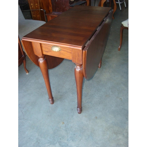 13 - Vintage Art Deco Oval Gateleg Dining Drop Leaf Table...