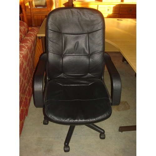 36 - Swivel Leather Office Chair...