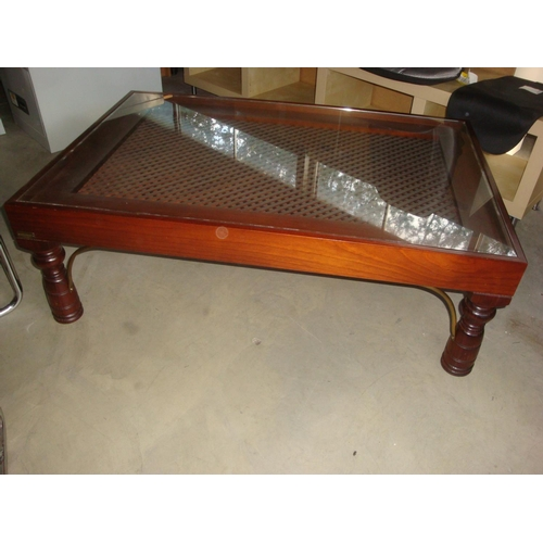 33 - Casanova Gandia Spain Large Glass Topped coffee Table...