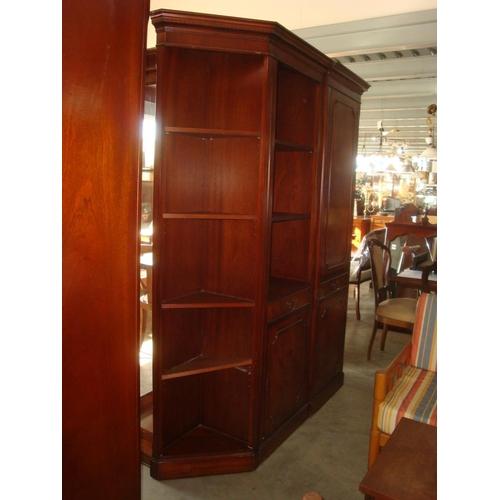 57 - Tall Corner Cupboard Bookcase Etagere...