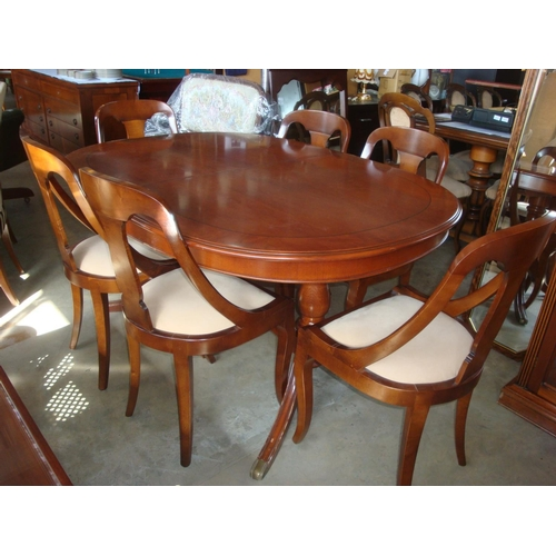 45 - Extendable Dining Table with Six Art Deco Chairs...