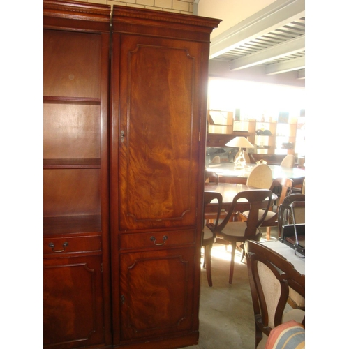 55 - Tall Solid Wood Cabinet Bookcase...