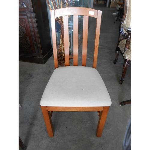 48 - Upholstered Wooden Desk Chair-Code AM7023N...