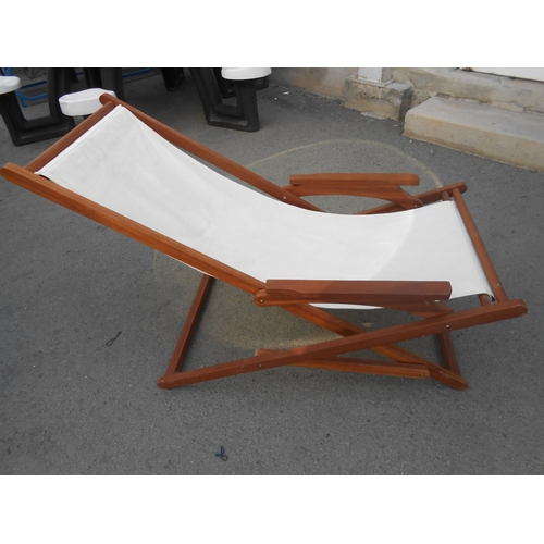 37 - Lounge Reclining Folding Chair...